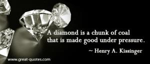 Diamond:Coal Quote