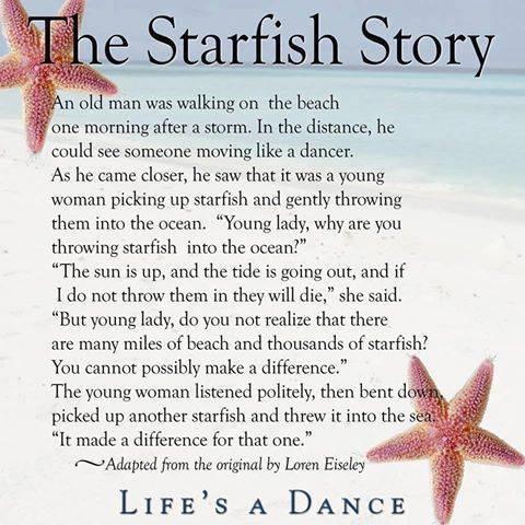 The starfish story my spiritual breakfast for Star fish story