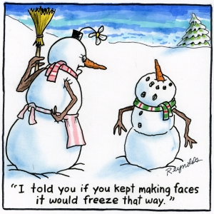 *Snowman Face